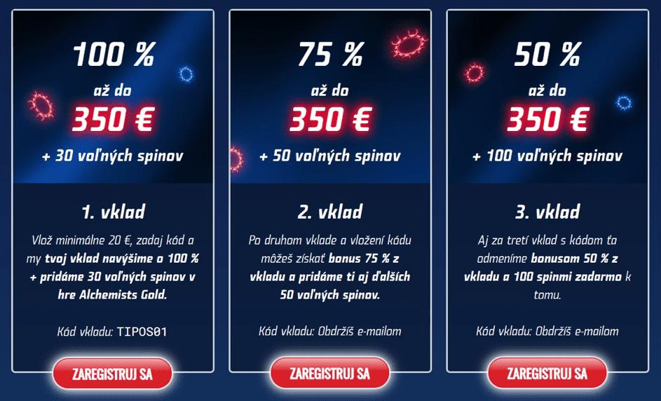 eTIPOS.sk vstupný bonus 2020