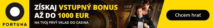 Fortuna Casino vstupný bonus 1000 Eur