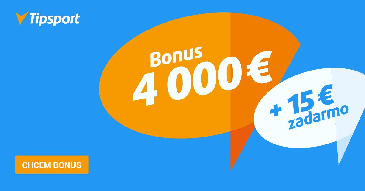 4dd06f9c2289e Recenzia Tipsport - Bonus 4 000 € + 15 € zadarmo | Kasino-online.sk