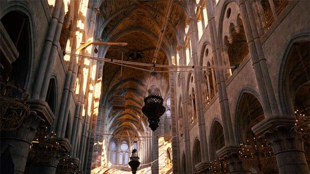 Notre-Dame interiér Assassin's Creed