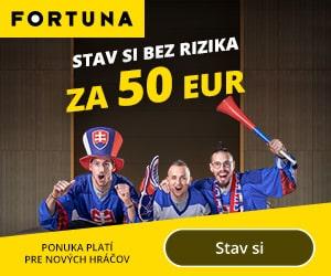 Fortuna stávka 50 € bez rizika