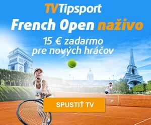 Tipsport naživo French Open bonus