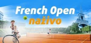 Sledujte French Open naživo a získajte bonus 15 € od Tipsportu