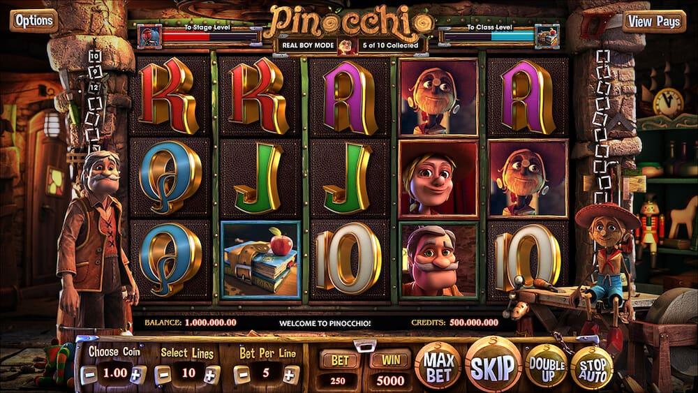 Pinocchio - online automat