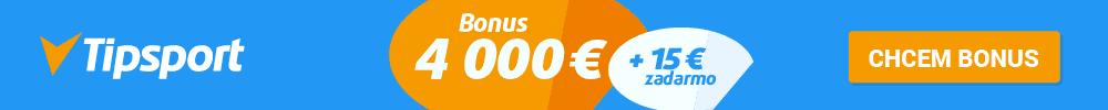 Tipsport vstupný registračný bonus