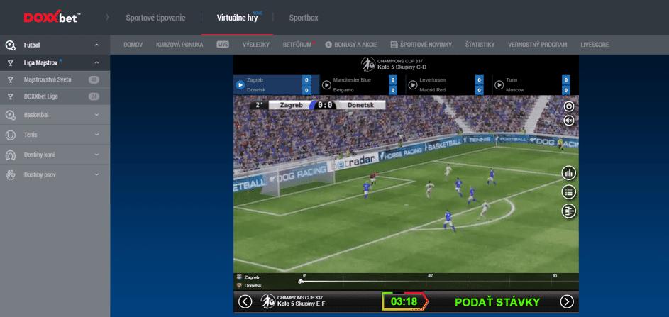 DOXXbet Virtuálne športy