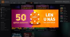 Niké spustilo nové kasíno Svet Hier