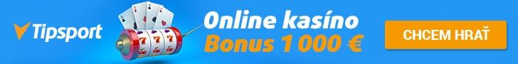 Tipsport Kasíno 1000 € bonus