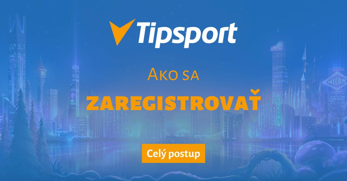 Ako sa zaregistrovať v Tipsport Kasíne