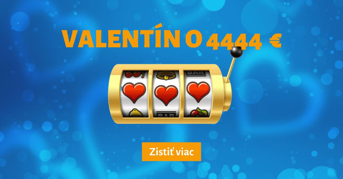 Tipsport Kasíno Valentín bonus