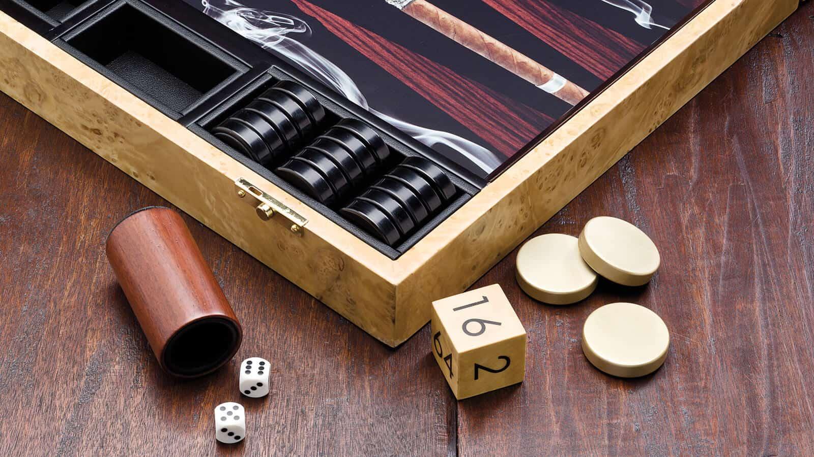 Backgammon - ilustračný obrázok