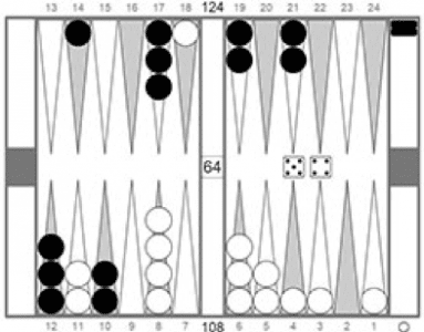 Backgammon - stratégia Race - obr. 1