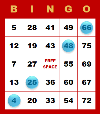 Bingo - kombinácia v diagonále