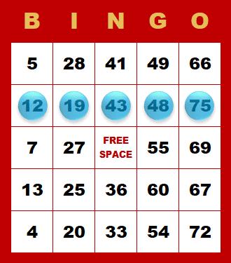 Bingo - kombinácia v riadku