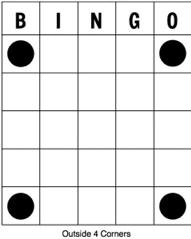 Bingo - kombinácia rohy
