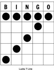 Bingo - kombinácia Sedmička (Lucky seven)