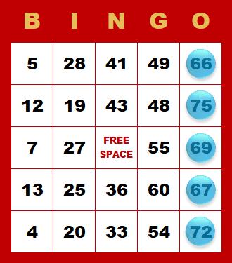Bingo - kombinácia v stĺpci