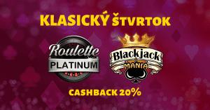 Klasický štvrtok blackjack ruleta - SynotTIP Casino