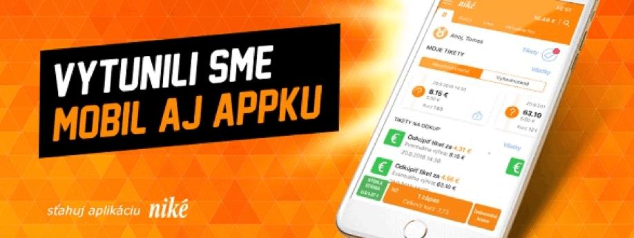 Niké - mobilná aplikácia