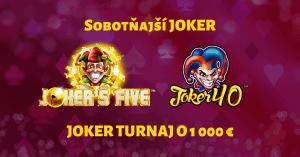 Sobotňajší Joker v SynotTIP Casino