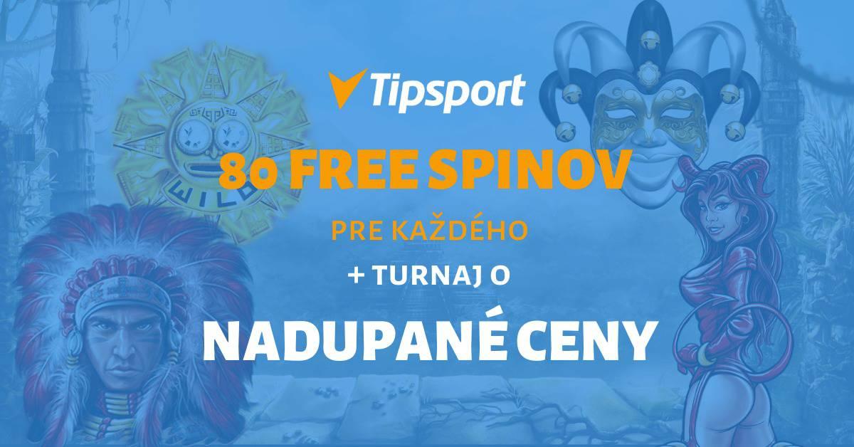 Tipsport Kasíno - turnaj a 80 free spinov pre každého