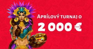 DOXXbet Kasíno - aprílový turnaj o 2000€