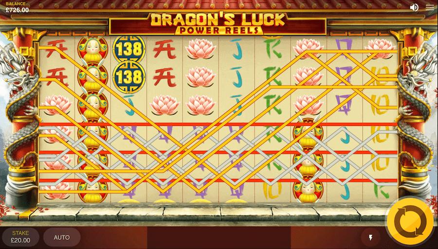 Dragon's Luck Power Reels - ukážka výherných kombinácií