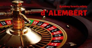 Stratégie hrania rulety - systém d'Alembert