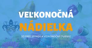 Veľkonočná nádielka free spiny turnaj Tipsport Kasíno