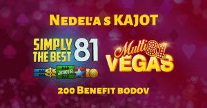 Nedeľa s Kajot Games v SynotTIP Casino