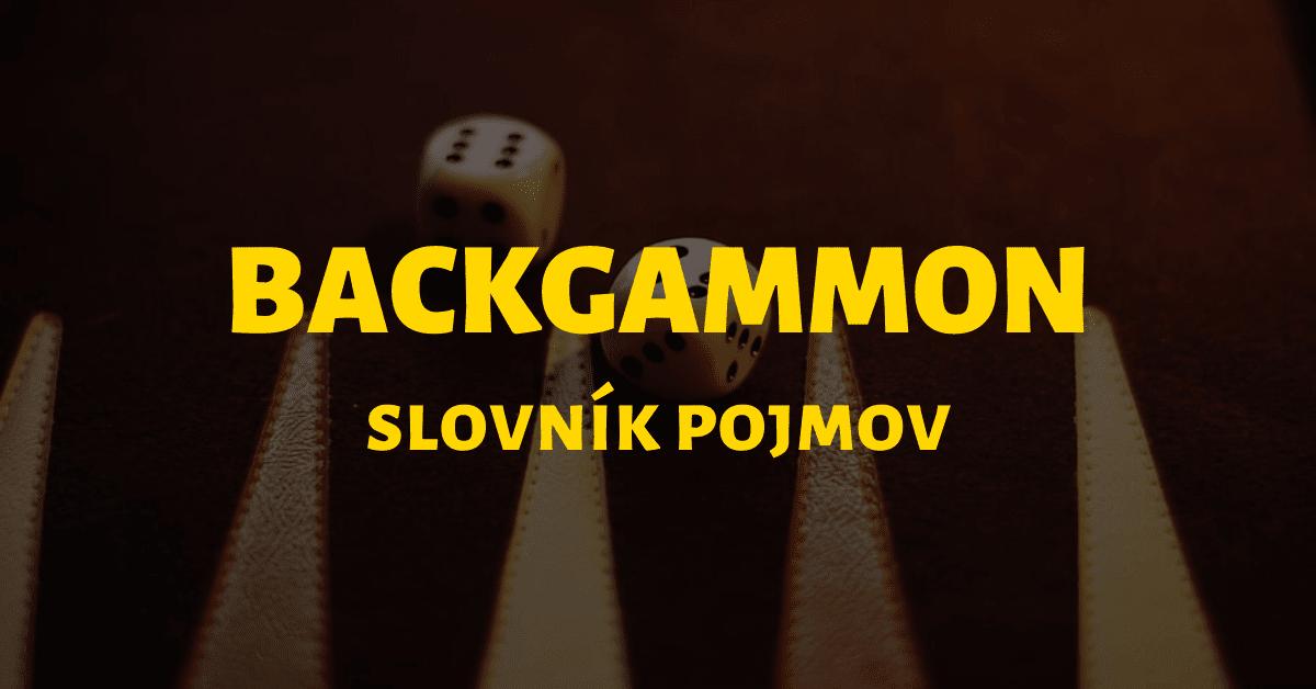 Online backgammon - slovník základných pojmov