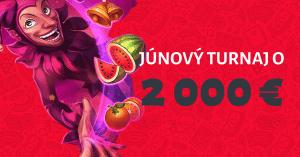 Apollo júnový turnaj o 2000 € v DOXXbet kasíno