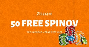 50 free spinov - Niké Svet hier