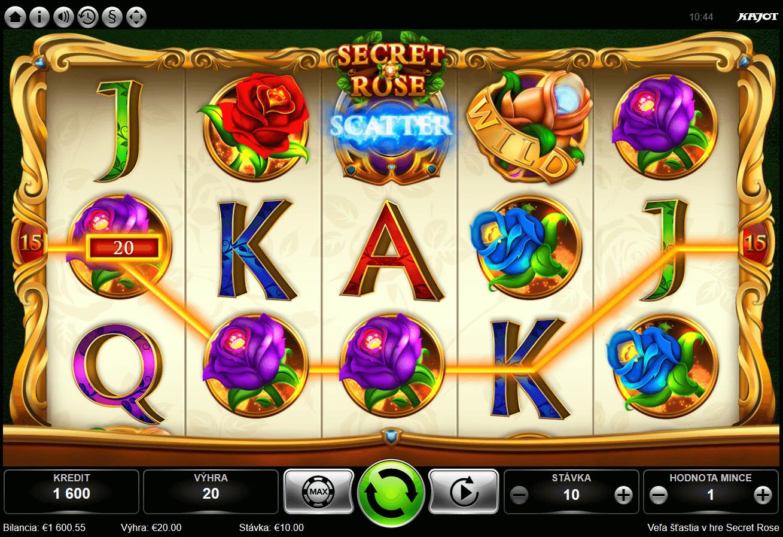 Secret Rose - online automat od Kajot