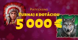 Piaty kasíno turnaj s rekordnou dotáciou 5000 € v SynotTIP Casino