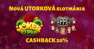 SynotTIP Casino - Utorková slotmánia - Joker 27 Plus, Puppet Show