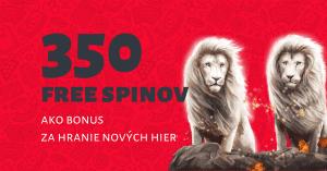 350 free spinov na nové hry v DOXXbet Kasíno