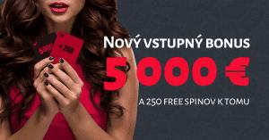 MEGA vstupný bonus v DOXXbet Kasíno: 5000 € + 250 free spinov