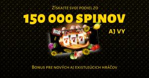 Fortuna Casino rozdáva hráčom 150 000 spinov