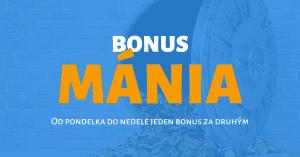 BONUSMÁNIA v Tipsport Kasíno: bonus na každý deň