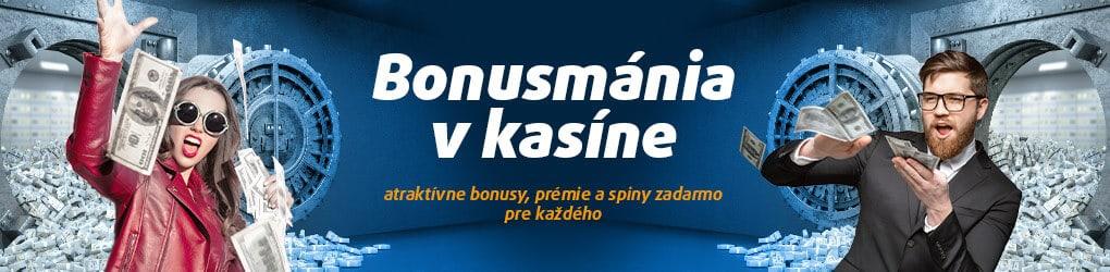 Tipsport Kasíno banner BONUSMÁNIA