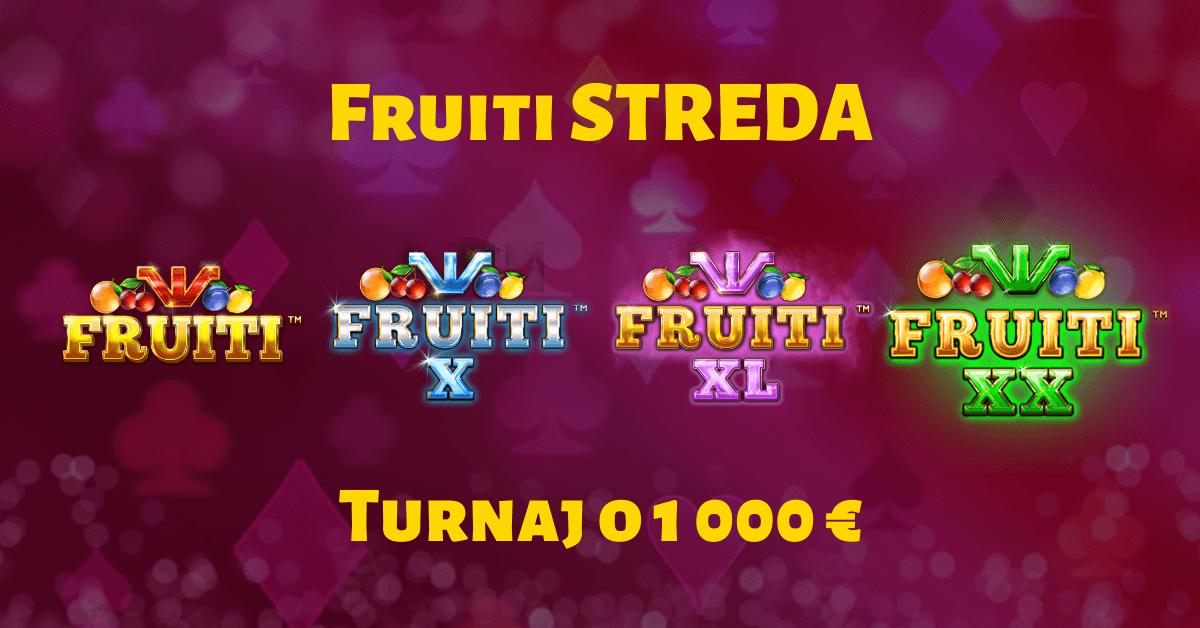 Fruiti streda v SynotTIP Casino