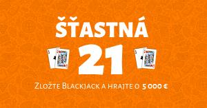 Niké Svet hier - promoakcia Šťastná 21 Blackjack