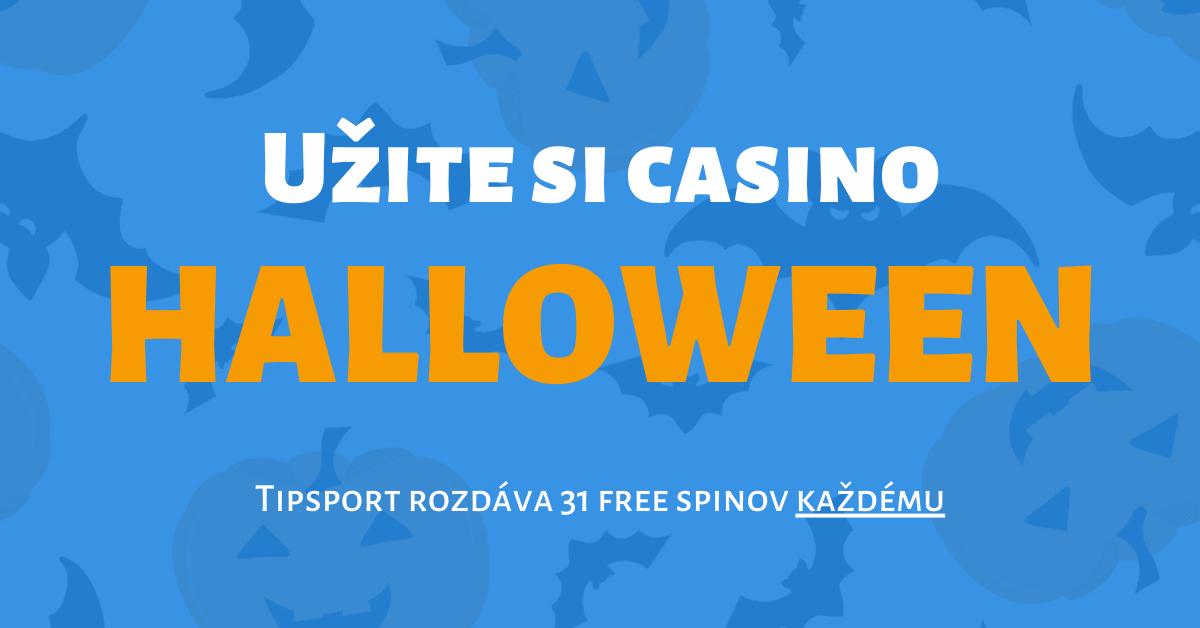 Halloween v Tipsport Kasíno: Získajte 31 spinov zadarmo