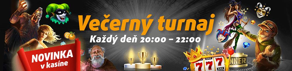 Tipsport Kasíno večerný turnaj banner
