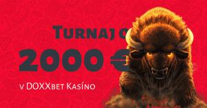 Hrajte prémiový casino turnaj o 2000 € v DOXXbet Kasíno