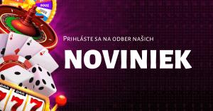 Prihláste sa na odber noviniek newsletter - Kasino-Online.sk