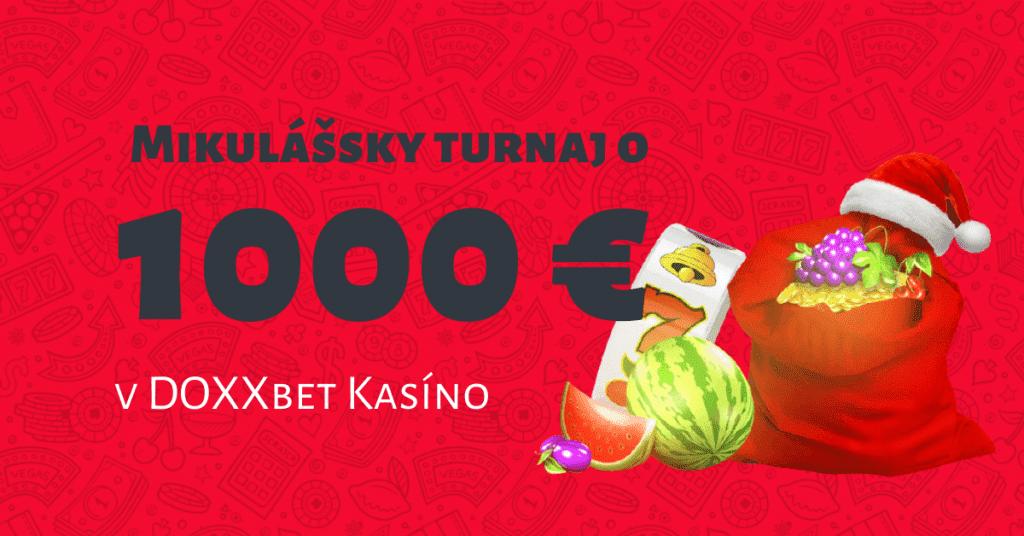 Mikulášsky turnaj o 1000 € v DOXXbet Kasíno