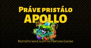 Hrajte nové Apollo Games automaty vo Fortuna Casino