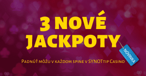 SynotTIP Casino spustilo prvý platformový jackpot na Slovensku